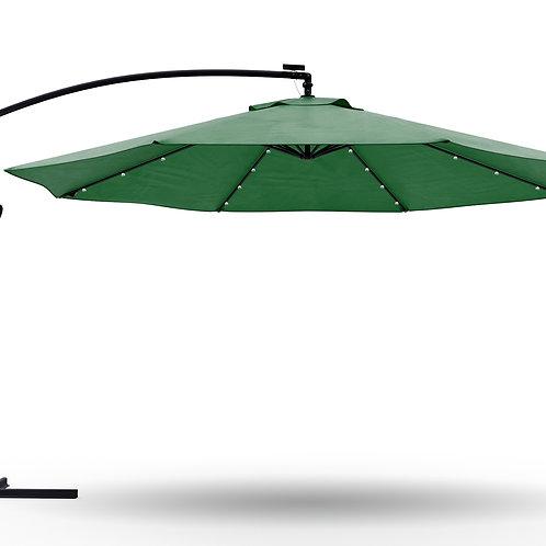 Ampelschirm mit LED 350 cm grün