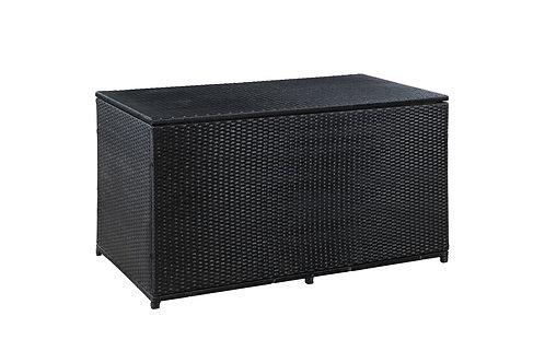 Rattan Kissenbox ISA 140 x 75 x 75 cm schwarz