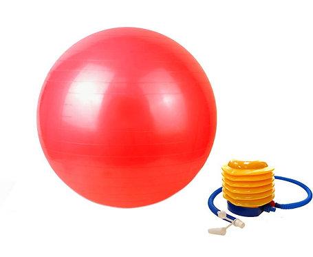 Gymnastikball 75 cm rot inkl. Pumpe