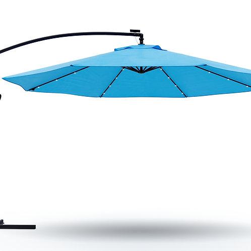 Ampelschirm mit LED 350 cm blau