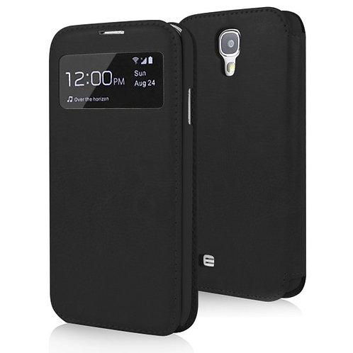 Ledertasche für Samsung Galaxy S4 schwarz
