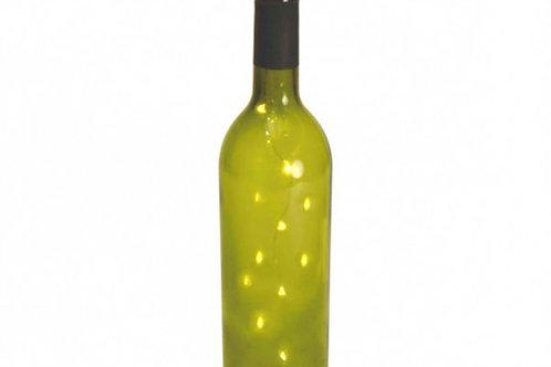 Flaschenlichterkette mit Korken