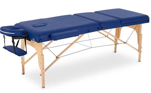 Massageliege 3-Zonen blau