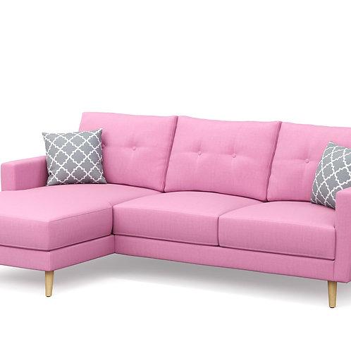 Ecksofa MANDY links pink