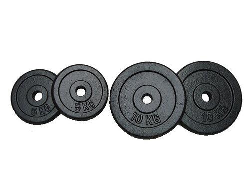 Hantelscheiben Gusseisen 2 x 10 kg + 2 x 5 kg Set