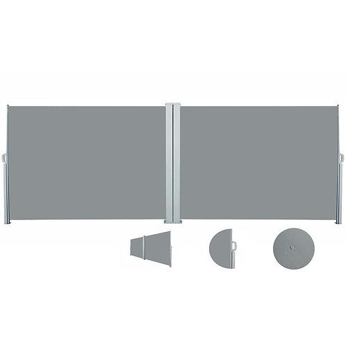 Doppelseitenmarkise 200 x 600 cm grau