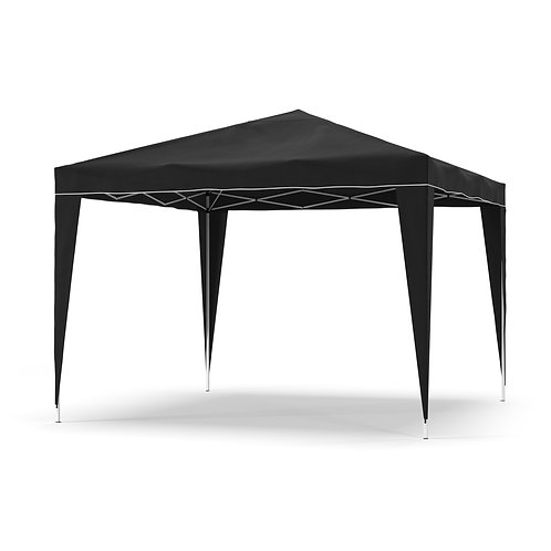 Gartenpavillon Partyzelt 3 x 3 m schwarz