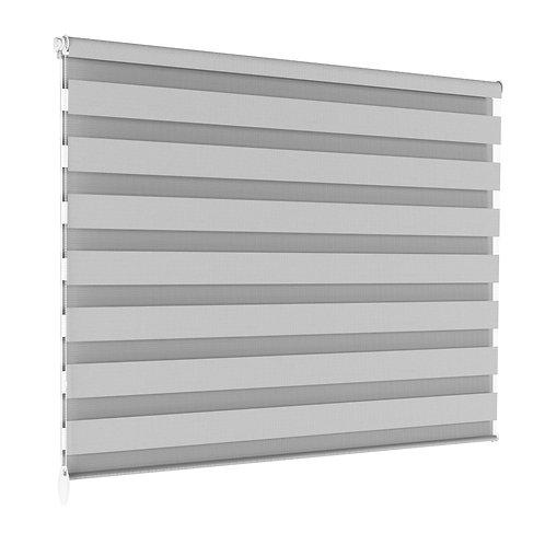 Doppelrollo grau 120 x 100 cm