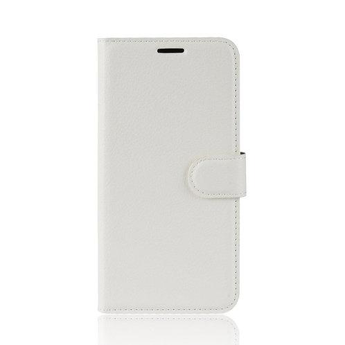 Lederetui für Huawei Mate 20 Pro weiss