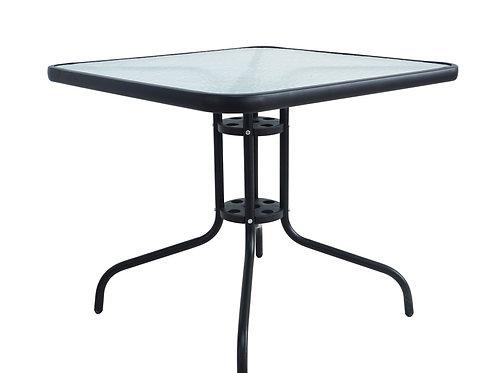 Gartentisch 80 x 80 cm schwarz