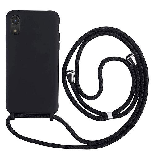 Handyhülle mit Band iPhone XR schwarz