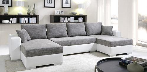Sofa EROS grau weiss