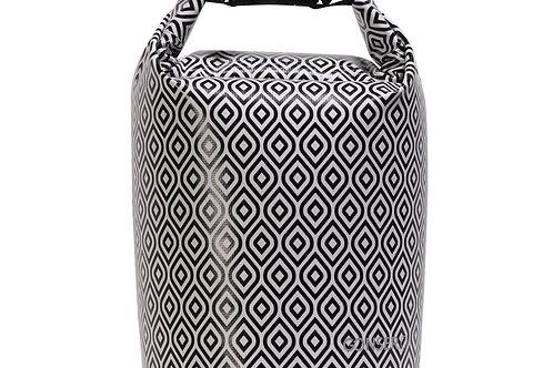 Dry Bag Tasche wasserdicht schwarz/weiss 5L