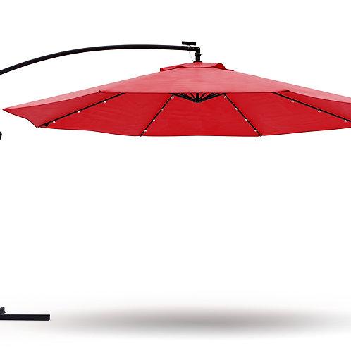 Ampelschirm mit LED 350 cm rot