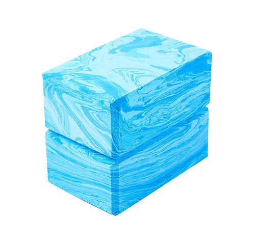 Yoga Block 2er Set camouflage blau