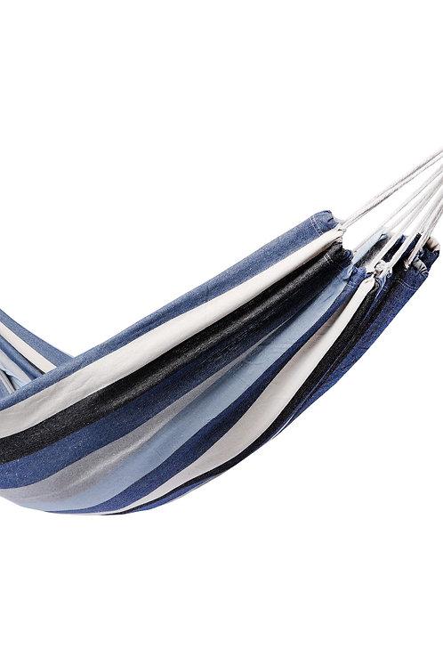 Hängematte 210x150 cm blau/weiss