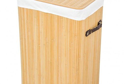 Wäschekorb Wäschetruhe aus Bambus eckig Grösse M