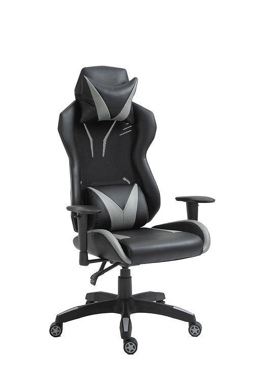 Gaming Stuhl Bürostuhl LOUIS schwarz grau
