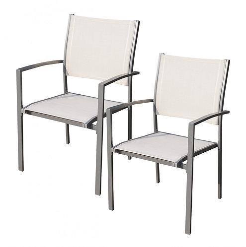 Gartenstühle Doppelpack weiss