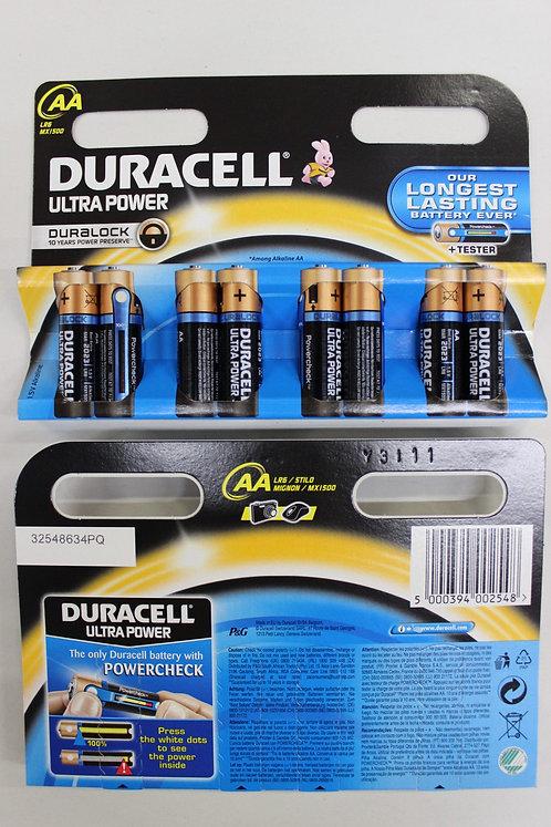 DURACELL Ultra Power AA Batterien MX1500 / LR6 8 Stk.