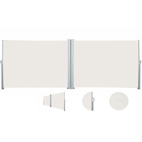 Doppelseitenmarkise 200 x 600 cm beige