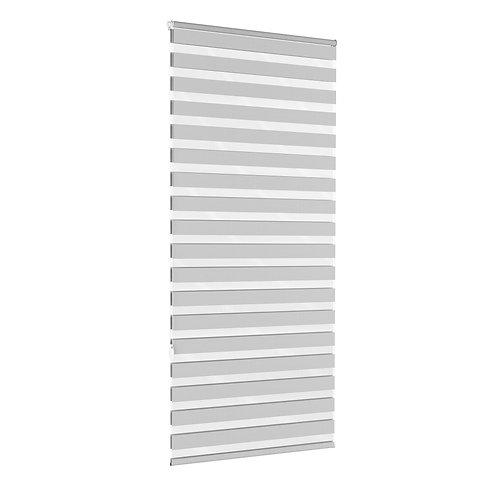 Doppelrollo grau 100 x 220 cm