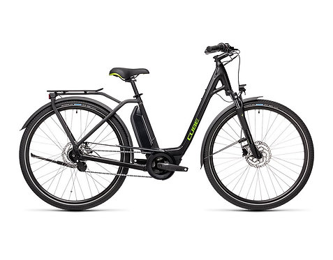 Cube Town Hybrid ONE 400 Easy Entry black´n´green Damen