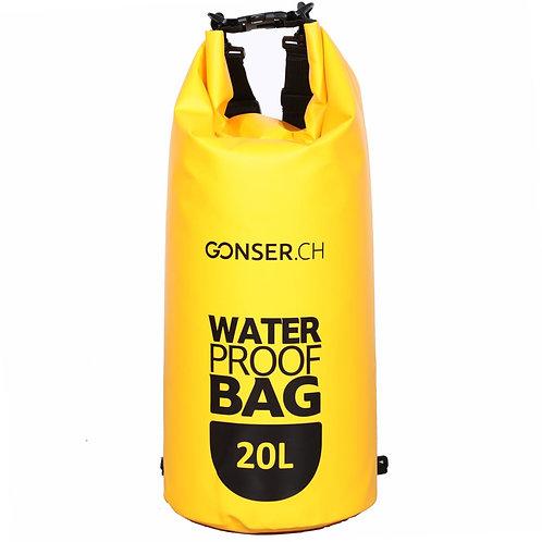Dry Bag Tasche wasserdicht gelb 20L