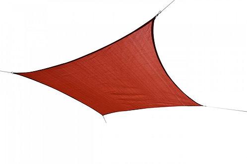 Sonnensegel Quadrat 3x3m rot
