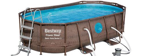 Bestway Swimming Pool Komplett-Set 427 x 250 x 100