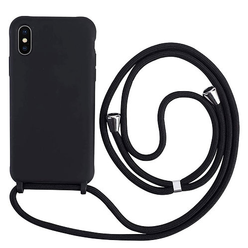 Handyhülle mit Band iPhone X schwarz