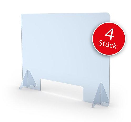 Schutzscheibe 4er Set mit Durchreiche (60 x 90 cm)