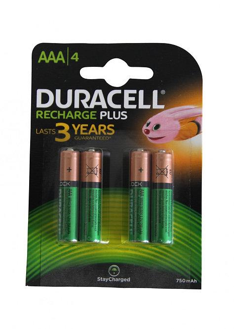 DURACELL StayCharged AAA Batterien DX2400 / HR03 750mAh 4 Stk.