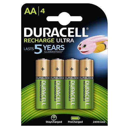 DURACELL StayCharged AA Batterien DC1500 / HR6 2500mAh 4 Stk.