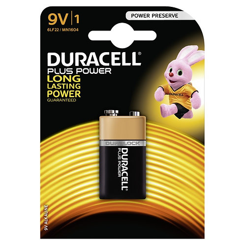 DURACELL Plus Power Batterie 9V 6LF22 / MN1604