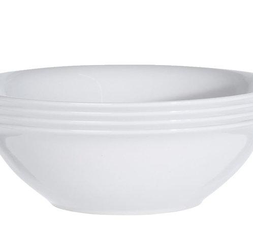 Schale Porzellan weiss 4er Set 18 cm