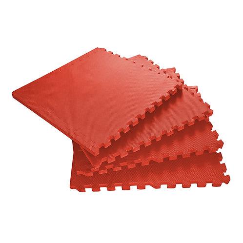 Bodenmatte 4er Set rot