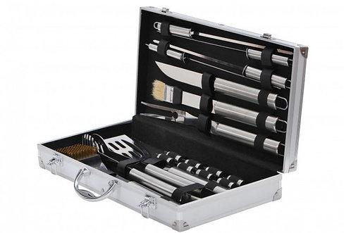 BBQ Grillbesteck-Set im Koffer 19-teilig