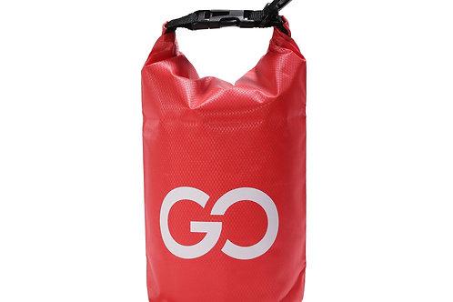 Dry Bag Tasche mit Handyfach rot 2L