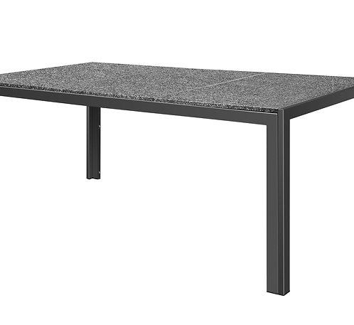 Granittisch 190 x 95 x 75 schwarz