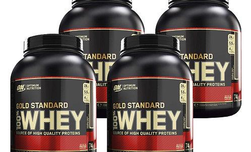 Optimum Nutrition Whey GS 2267 g Double Rich Chocolate - 4er Set