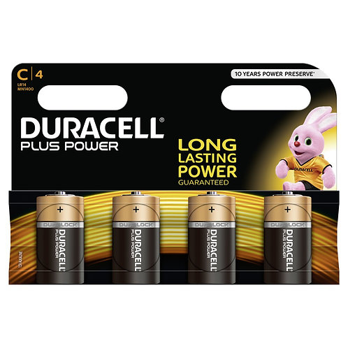 DURACELL Plus Power Batterien MN1400 C / LR14 4 Stk.