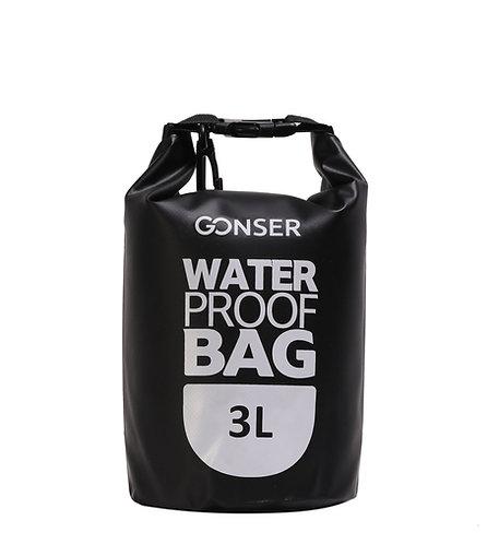 Dry Bag Tasche wasserdicht schwarz 3L