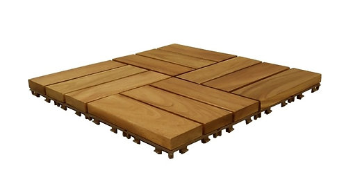Bodenplatten aus Akazienholz 11er Set