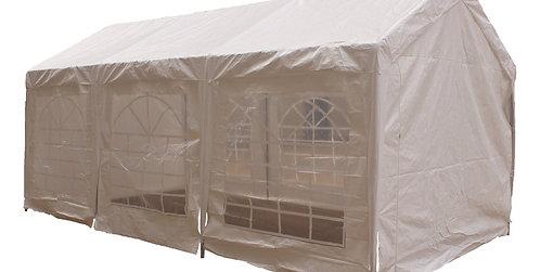 Gartenpavillon Partyzelt weiss 3 x 6 m