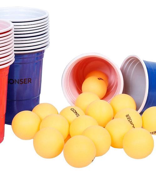 Beer-Pong Spielset 48-teilig