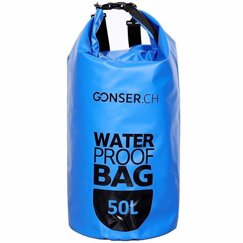 Dry Bag Tasche wasserdicht blau 50L