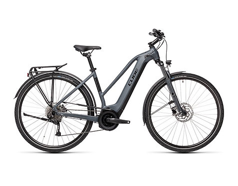 Cube Touring Hybrid ONE 400 Lady grey´n´black Trekkingräder Damen