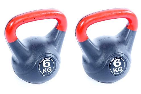 Gewicht Kettlebell 2 x 6 kg Set