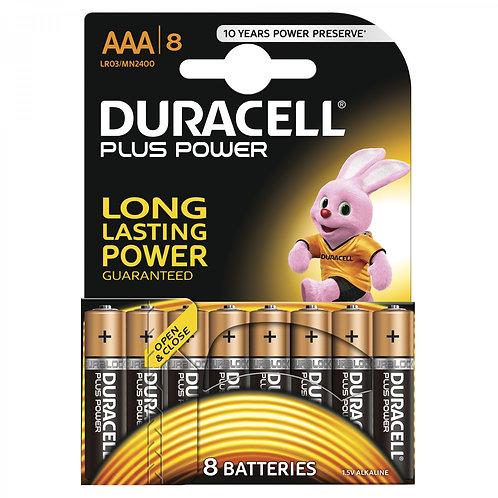 DURACELL Plus Power AAA Batterien MN2400 8 Stk.
